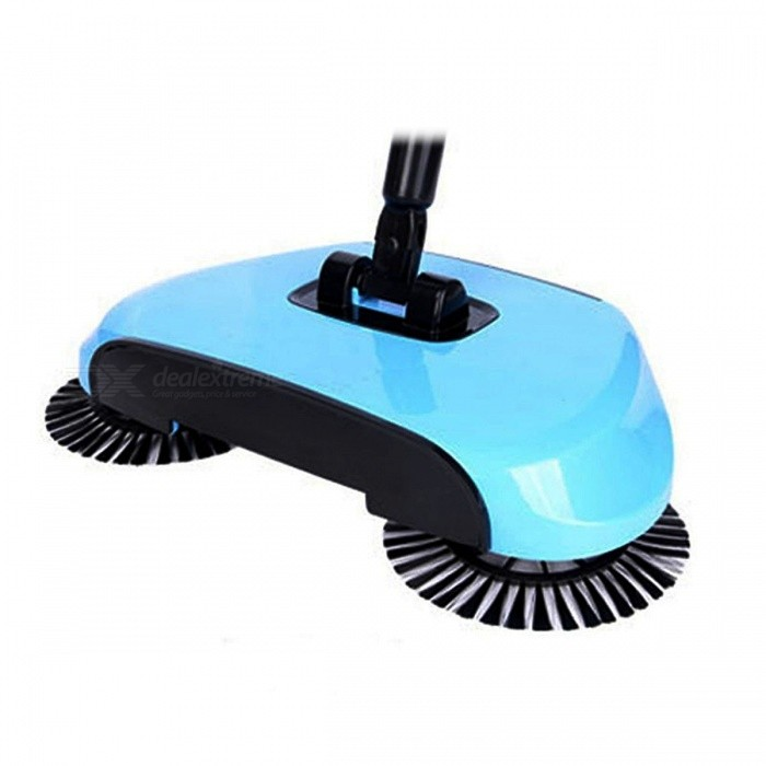 Buy Hand Push Floor Sweeper, Vacuum Cleaner - Sky Blue with Litecoins with Free Shipping on Gipsybee.com