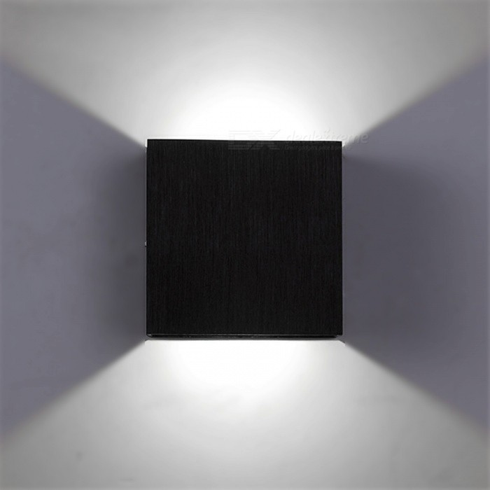 3W LED Neutral White Wall Mount Light Lamp for Bedroom - BlackWall Lights<br>Form  ColorBlack (Neutral White)MaterialAluminumQuantity1 setPower3WRated VoltageAC 85-265 VEmitter TypeCOBActual Lumens90-100 lumensColor BINNeutral WhiteDimmableYesInstallation TypeWall MountPacking List1 x Wall Lamp<br>