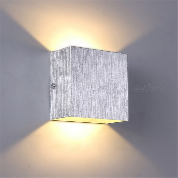 Buy 3W LED Warm White Wall Mount Light Lamp for Bedroom - Silver with Litecoins with Free Shipping on Gipsybee.com