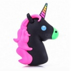 Remax 1800mAh Cartoon Söpö Portable Unicorn Power Bank - musta