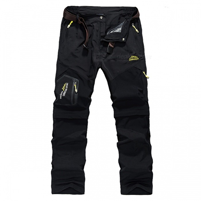 Summer-Quick-Dry-Mens-Removable-Pants-Black