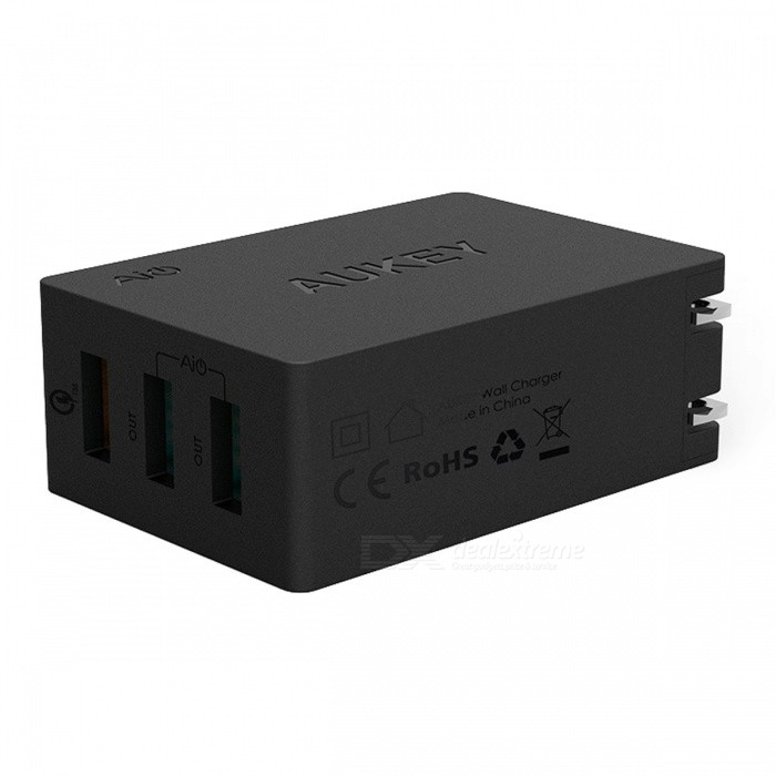 AUKEY PA-T2 Quick Charge 2.0 Wall Charger 3 USB Port - Black (US Plug)AC Chargers<br>Form  ColorBlack (US Plug)ModelPA-T2MaterialPlasticQuantity1 setCompatible ModelsUniversalInput VoltageAC 100V-240 VOutput CurrentDC 5V/2A 9V/2A 12V/1.5 AOutput Power24 WOutput Voltage5 VSplit adapter number3Power AdapterUS PlugQuick Charge5V/4.8A(Max)LED IndicatorNoCable Length100 cmCertificationFCC,CE,RoHSPacking List1 x 3ports Wall charger1 x Micro USB cable (Length: About 1m, Support Quick Charging &amp; data transfer)1 x Manual<br>