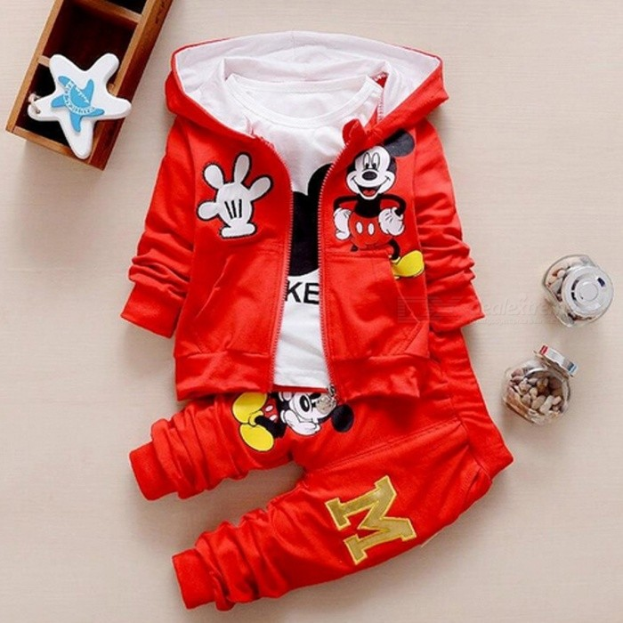 Autumn Baby Girls Boys Clothes Sets Cute Infant - Red / 19-24 Months