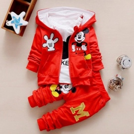 Autumn-Baby-Girls-Boys-Clothes-Sets-Cute-Infant-Red-19-24-Months