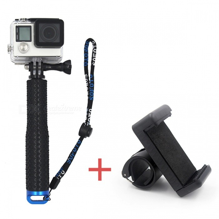 Aluminum Extendable Selfie Stick Monopod with Phone Holder - BlackTripods and Holders<br>Form  ColorBlack (With Phone Holder)ModelVP403MaterialAluminum + PCQuantity1 pieceTypeMonopodRetractableYesFolded Size18 cmFull Size 49 cmPacking List1 x Aluminum Stick1x Monopod Phone lock clip<br>