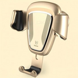 Baseus Car Air Outlet Phone Holder for IPHONE Samsung Phone - Golden