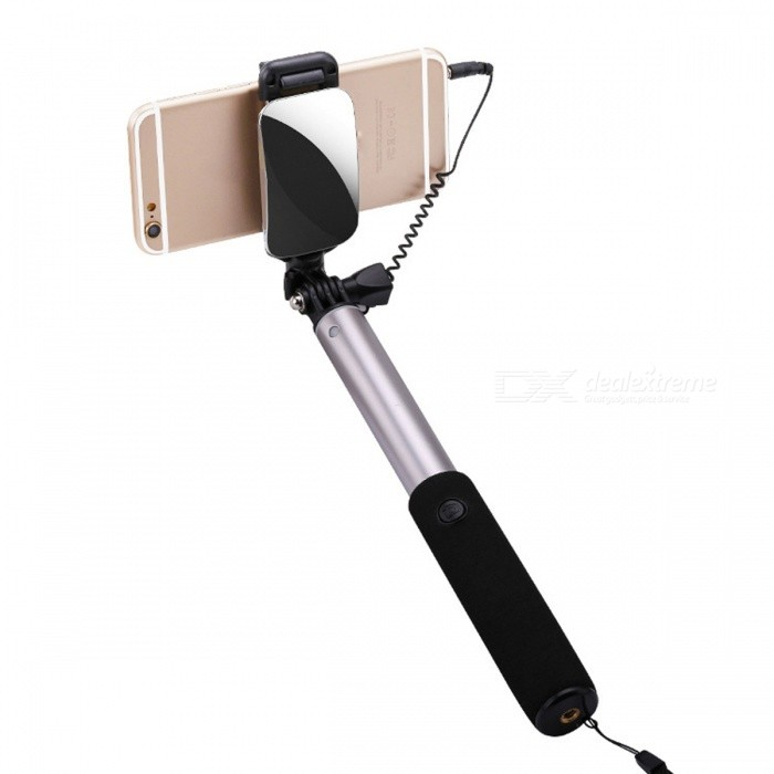 Universal Extendable Selfie Stick Monopod for Android IOS - GreyTripods and Holders<br>Form  ColorGreyMaterialAluminumQuantity1 pieceShade Of ColorGrayTypeMonopodRetractableYesFolded Size21 cmFull Size 100 cmPacking List1 x Monopod<br>