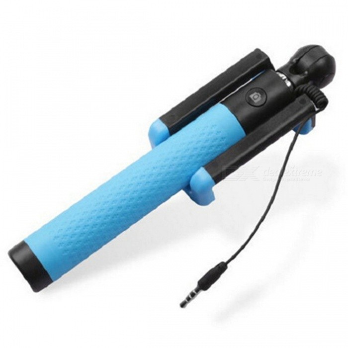 D12s Mini Portable Extendable Wired Selfie Stick Monopod