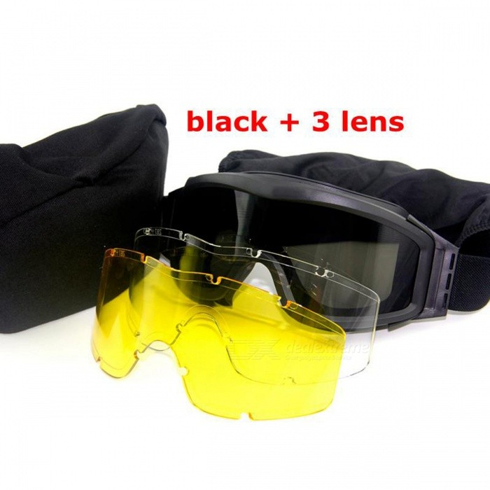 Buy Airsoft Tactical Goggles USMC Tactical Sunglasses - Black with Litecoins with Free Shipping on Gipsybee.com