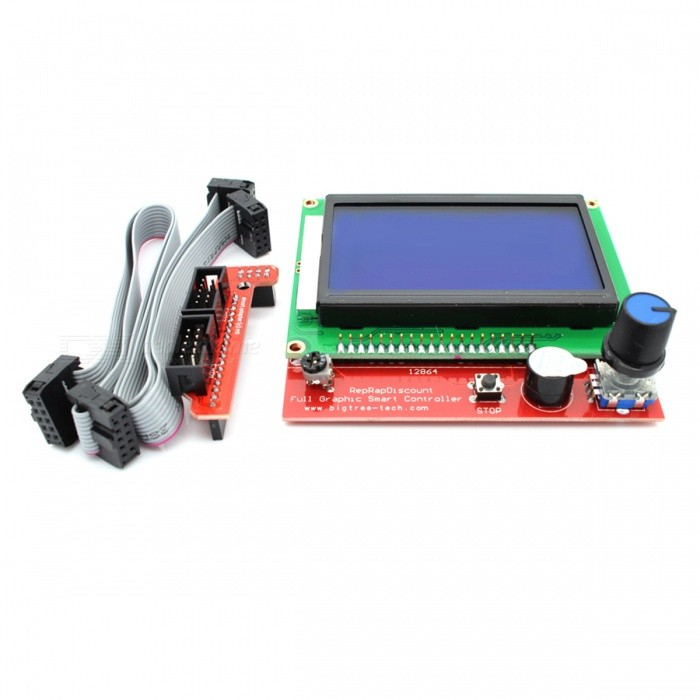 "3.2"" 128x64 Display LCD 3D Printer Controller with Adapter"