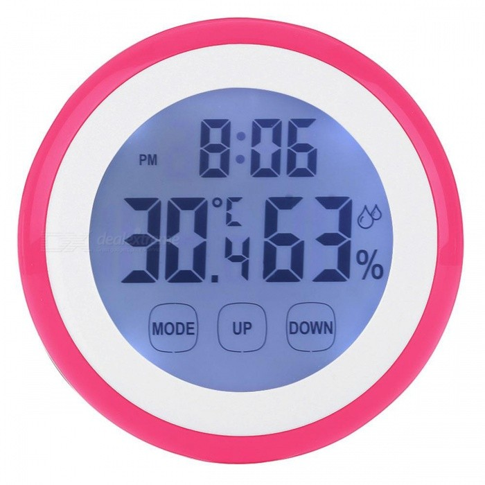 Buy Backlit Digital LCD Thermometer Hygrometer - Red with Litecoins with Free Shipping on Gipsybee.com