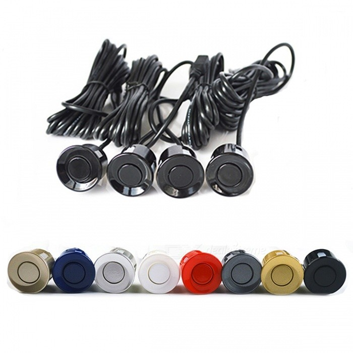 4 Sensors 22mm Buzzer Car Parking Sensor Kit Radar - Champagne GoldParking Sensors<br>Form  ColorBuzzer - Champagne GoldModel-Quantity1 setMaterialABSFunction-Shade Of ColorGoldSensor ColorGoldenSensor Qty.4Sensor Diameter25 mmDetecting Distance0-2.5 mScreen Size-Water-proofOthers,YesPower SupplyCarWarning Distance 0-2.5 mError Range1 cmAlarm Volume70~85 dBUltrasonic Frequency40 KHzWorking Voltage   12 VRated Current20-200 AWorking Temperature-30~70 ?Packing List1 x Main Control Box 1 x Sound Alert Indicator 4 x Parking Sensors with 2.5m Line 1 x Power Cable 1 x Hole Saw 2 x Double Sided Adhesive Pad 1 x User manual<br>