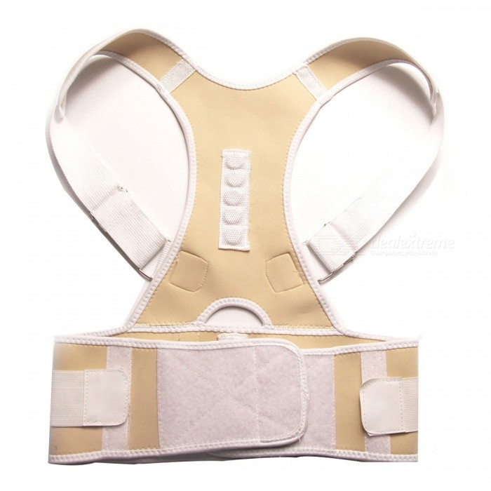 Back Posture Correction Belt - Beige (M)Form  ColorBeige (M)ModelMMaterialCotton + ABSQuantity1 pieceShade Of ColorWhiteDisplayNoControl ModeNoTarget PositionShoulder BackPhysical therapy functionCorrects bad back posture and form good sitting and walking posture;<br>Keeps reasonable eye distance, preventing myopia;Power SupplyOthers,NoPower AdapterOthers,NoPacking List1 x Brace<br>