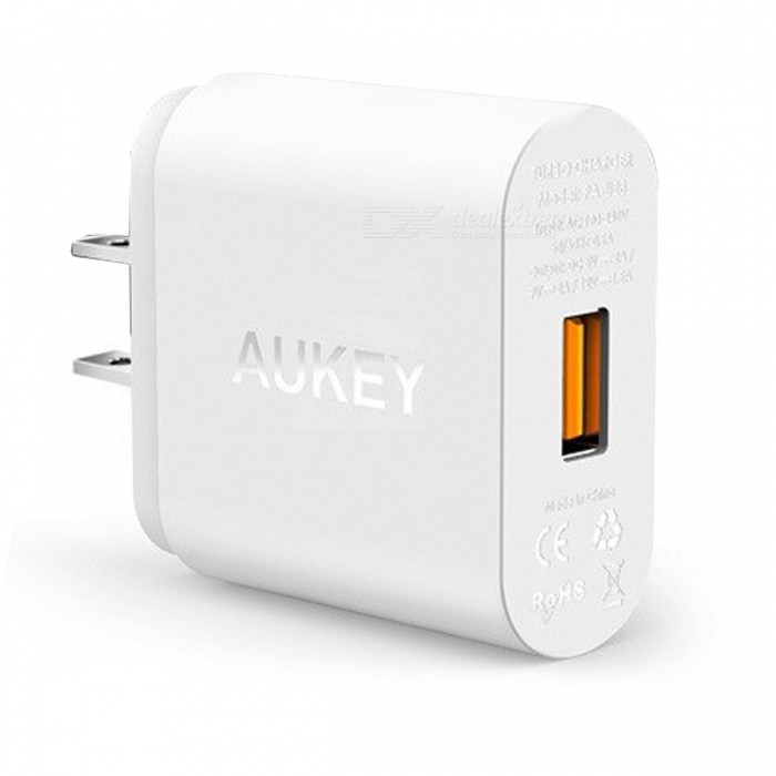 AUKEY PA-U28 Quick Charge 2.0 USB Turbo Wall Charger - White (US Plug)AC Chargers<br>Form  ColorWhite (US Plug)ModelPA-U28MaterialABSQuantity1 pieceInput VoltageAC 100-240 VOutput Current5V/2A, 9V/2A, 12V/1.5 AOutput Power10/18 WOutput Voltage5~12 VPower AdapterUS PlugQuick Charge2.0LED IndicatorNoCable Length100 cmCertificationFCC,CE,RoHSPacking List1 x Charger1 x Micro USB cable(1m Length, Support fast charging)1 x Manual<br>