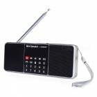 L-288 Mini Portable FM Radio Lautsprecher Stereo Musik Player-golden