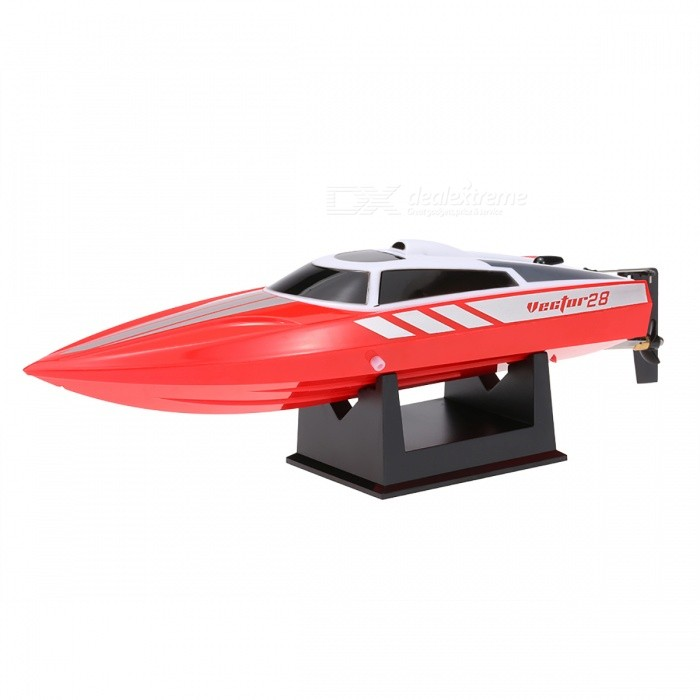 2.4GHz Brushed 30km/h High Speed Pool RTR RC Racing Boat - RedR/C Boats<br>Form  ColorRedModelN/AMaterialPlasticQuantity1 setShade Of ColorRedTypeOtherScaleOtherChannels Quanlity2 channelFunctionOthers,Go forward, turn left and rightRemote control frequency2.4GHzRemote Control Range100 mSuitable Age 12-15 years,Grown upsCameraNoLamp NoBattery TypeLi-ion batteryBattery Capacity360 mAhCharging Time120 minutesWorking Time10 minutesRemote Control TypeWirelessModelOthers,N/ARemote Controller Battery TypeAAARemote Controller Battery NumberNot includedPacking List1 x RC Boat1 x 2.4GHz Transmitter1 x 7.4V 360mAh 15C LiPo Battery (Included)1 x Spare Propeller1 x Boat Holder1 x Tool1 x USB Cable1 x Manual<br>