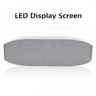 LED Bluetooth-högtalare Sound Box Subwoofer Bärbar med Mic - Silver
