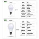 LED-Birnen-Lampe E27 7W hohe Helligkeit-Glühlampe - warmes Weiß / 6PCS