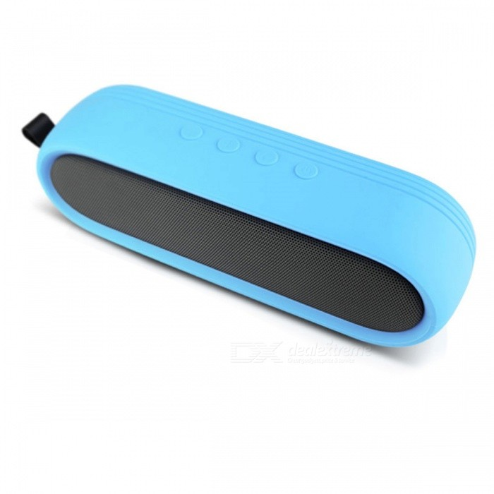Portable Bluetooth Speaker Dual Bass Mini Wireless Speakers - BlueBluetooth Speakers<br>Form  ColorBlueModelS202CMaterialPlasticQuantity1 pieceShade Of ColorBlueBluetooth HandsfreeYesBluetooth VersionBluetooth V4.0Operating Range10MChannels2.0Interface3.5mmMicrophoneYesApplicable ProductsUniversalBuilt-in Battery Capacity 2600 mAhStandby Time6 daysMusic Play Time8 hourPacking List1 x Portable Wireless Speaker 1 x 3.5mm Audio Cable1 x USB Charging Cable1 x Camping Snap Hook1 x User Manual<br>
