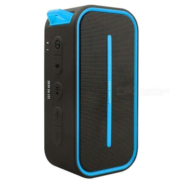 BV500 Outdoor Portable Wireless Bluetooth Speaker for Camping - BlueBluetooth Speakers<br>Form  ColorBlueModelBV500MaterialPlasticQuantity1 pieceShade Of ColorBlueBluetooth HandsfreeNoBluetooth VersionBluetooth V4.0Operating Range10MChannels2.0Interface3.5mmApplicable ProductsUniversalSupports Card TypeMicroSD (TF)Max Extended Capacity32GBPacking List1 x Bluetooth Speaker1 x 3.5mm Audio Cable1 x USB Cable1 x Hook1 x Manual<br>
