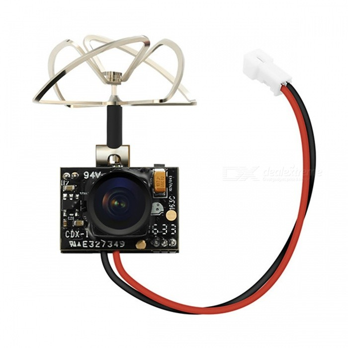 TX02 Mini AIO 5.8GHz 40CH 200mW VTX 600TVL 1/4 CMOS FPV CameraOther Accessories for R/C Toys<br>Form  ColorBlackModelN/AMaterialComposite MaterialQuantity1 setCompatible ModelVehicles &amp; Remote Control ToysPacking List1 x TX02 AIO FPV Camera (with cable)1 x Cable1 x User Manual<br>