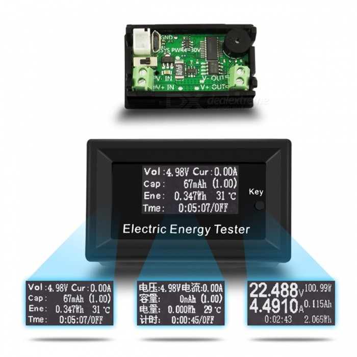 100V 15A 5-Bit High-precision Digital DC LCD Energy TesterOther Measuring &amp; Analysing Instruments<br>Form  ColorBlackModel-Quantity1 pieceMaterialABSPacking List1 x Energy Tester<br>