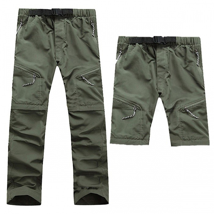 Summer Outdoor Fast Drying Mens Pants - Army GreenForm  ColorArmy GreenSizeLModelN/AQuantity1 DX.PCM.Model.AttributeModel.UnitMaterialNylonShade Of ColorGreenSeasonsSpring and SummerGenderMensWaist76-84 DX.PCM.Model.AttributeModel.UnitHip Girth102 DX.PCM.Model.AttributeModel.UnitTotal Length102 DX.PCM.Model.AttributeModel.UnitBest UseOthers,Hiking,Camping,Hunting.Climbing.Fishing,RunningSuitable forAdultsPacking List1 x Pants<br>