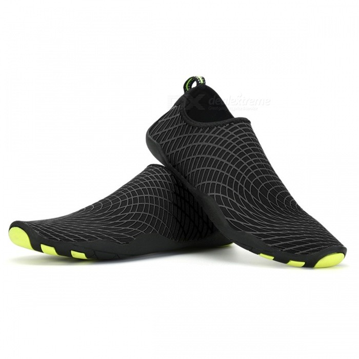 Quick Drying Breathable Mens Sport Water Shoes - Black (11)Form  ColorBlackSize45ModelN/AQuantity1 setMaterialRubber, Stretch FabricShade Of ColorBlackGenderMensFoot Length28.3 cmLiningBreathable fabricOutsoleRubberSuitable forAdultsBest UseOthers,Water Sport Shoes,Aqua Shoes;Beach Diving Socks,Flat Seaside ShoesPacking List1 Pair x Shoes<br>