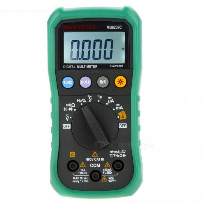 Buy MASTECH MS8239C 4-Digit Auto Range Mini Multimeter Temperature Tester with Litecoins with Free Shipping on Gipsybee.com