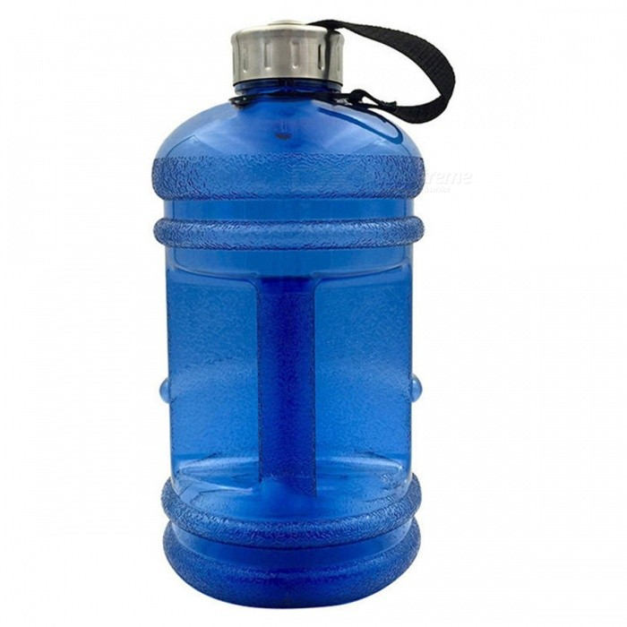 2.2L Large Capacity Water Bottle for Outdoor Sports - BlueCups &amp; Bottles<br>Form  ColorTranslucent BlueMaterialPlasticQuantity1 pieceCapacity2.2LDiameter13 cmHeight27 cmPacking List1 x Water Bottle<br>