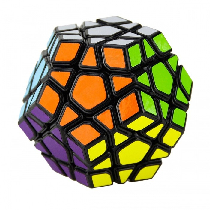 Megaminx Magic Cube, Speed ​​Puzzle Kid Educational Toy - Svart