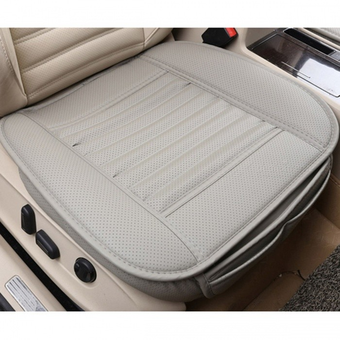 Four Seasons Stylish Universal PU Car Seat Cushion - Grey/FullCar Cushions and Pillows<br>Form  ColorGrey / FullModel-Quantity1 DX.PCM.Model.AttributeModel.UnitMaterialPUShade Of ColorWhiteTypeOthers,N/ASurface MaterialPULining MaterialBamboo carbonPacking List1 x Car seat cushion<br>