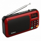 W405 Portable Mini FM Radio Speaker Music Player - Red