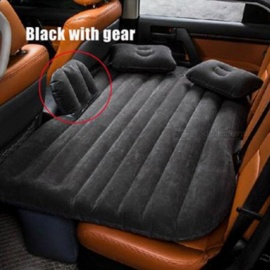 Car-Back-Seat-Cover-Air-Mattress-Travel-Inflatable-Bed-Black-w-Gear