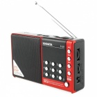 D-38 FM-Stereo / MW / SW / MP3-spelare / DSP Vollband Radio - Röd
