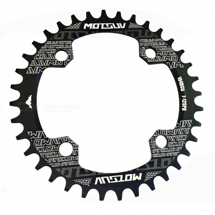 Buy MTB Bicycle Round Shape Narrow Wide Chainwheel - Black (34T) with Litecoins with Free Shipping on Gipsybee.com