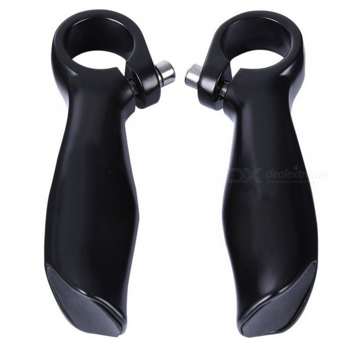 Buy Aluminum Alloy Folding Bicycle Handlebar MTB Bar End - Black with Litecoins with Free Shipping on Gipsybee.com