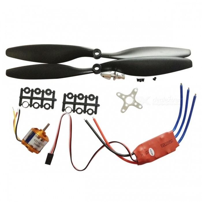 1000KV Brushless Motor Quad-Rotor Set for RC Aircraft MulticopterOther Accessories for R/C Toys<br>Form  Color1000KV Simon K30A 1045ModelN/AMaterialMetalQuantity1 DX.PCM.Model.AttributeModel.UnitCompatible ModelVehicles &amp; Remote Control ToysPacking List1 x 1000KV Brushless Outrunner Motor with Mounts1 x Simon K30A Build-in BEC 2A Brushless ESC1 x Pair of 1045L/R Propellers (Black)<br>