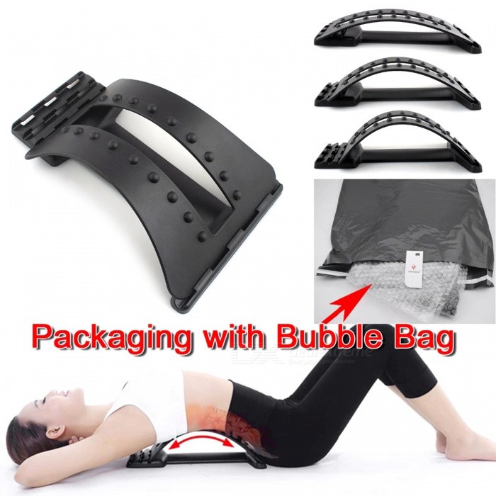 Back Massage Stretcher Stretching Magic Lumbar Support Waist Relax for sale in Bitcoin, Litecoin, Ethereum, Bitcoin Cash with the best price and Free Shipping on Gipsybee.com