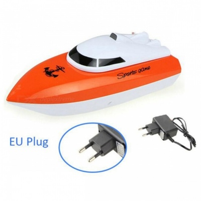 Radio Control RC 4 CH Waterproof Mini Speed Boat Airship - Orange/EU
