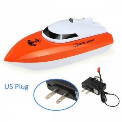 Radio Control RC 4 CH Waterproof Mini Speed Boat Airship - Orange/US