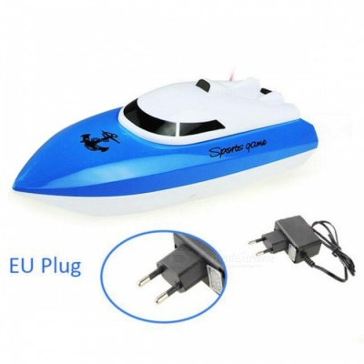 Radio Control RC 4 CH Waterproof Mini Speed Boat Airship - Blue/EU