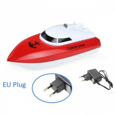 Radio Control RC 4 CH Waterproof Mini Speed Boat Airship - Red/EU