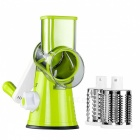 Round Mandoline Slicer Vegetable Cutter - Green