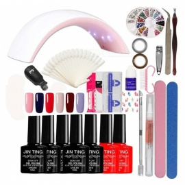 Nail-Art-Full-Manicure-Tool-Set-to-Beginner-EU-Plug-(Color-No-01)