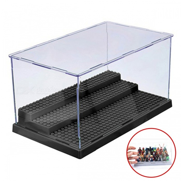 3 Steps Dustproof Display Case Box for LEGO Blocks - BlackOther Toys<br>Form  ColorBlackMaterialAcrylicQuantity1 DX.PCM.Model.AttributeModel.UnitSuitable Age 3-4 years,5-7 years,8-11 years,12-15 yearsPacking List1 x Acrylic Display Case<br>