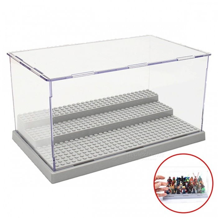 3 Steps Dustproof Display Case Box for LEGO Blocks - GreyOther Toys<br>Form  ColorGreyMaterialAcrylicQuantity1 DX.PCM.Model.AttributeModel.UnitSuitable Age 3-4 years,5-7 years,8-11 years,12-15 yearsPacking List1 x Acrylic Display Case<br>