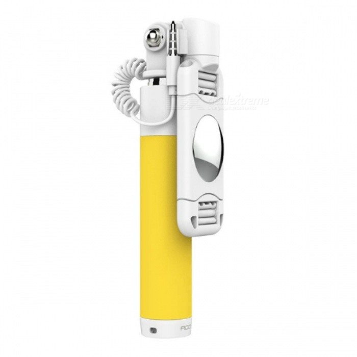 ROCK Universal Mini Wired Selfie Stick Monopod for Phones - YellowMounts &amp; Holders<br>Form  ColorYellowModelROT0724MaterialABSQuantity1 DX.PCM.Model.AttributeModel.UnitMount TypePortableCompatible ModelsUniversalCompatible Size(inch)59mm-66mm (Device with 6 screen or smaller)Packing List1 x Selfie Stick<br>