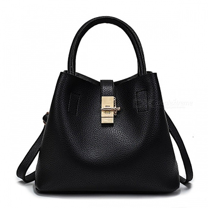 PU-Leather-Fashion-Womens-Handbag-Black