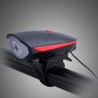 Multifunction Bike Light LED Flashlight Cycle Lamp with Bell - Red